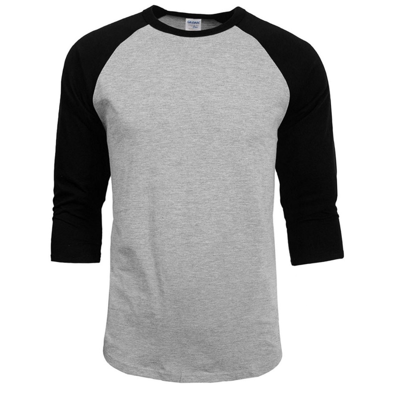 New Raglan 3/4 Sleeve Baseball Mens Plain Tee Jersey Team ...