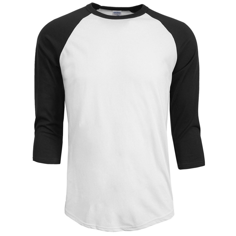 Men-039-s-Women-3-4-Sleeve-Plain-T-Shirt-Lot-Baseball-Running-Tee-Sports-Top-Blouse
