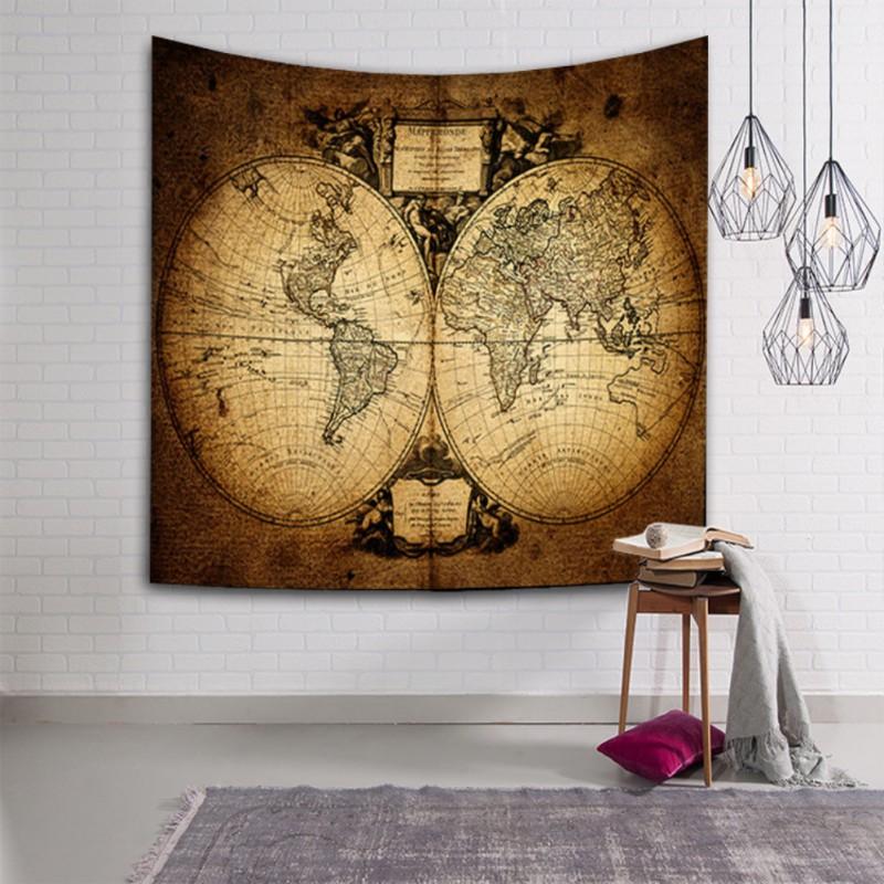 Mandala tapestry world map wall hanging decor boho hippie queen mandala tapestry world map wall hanging decor boho gumiabroncs Images