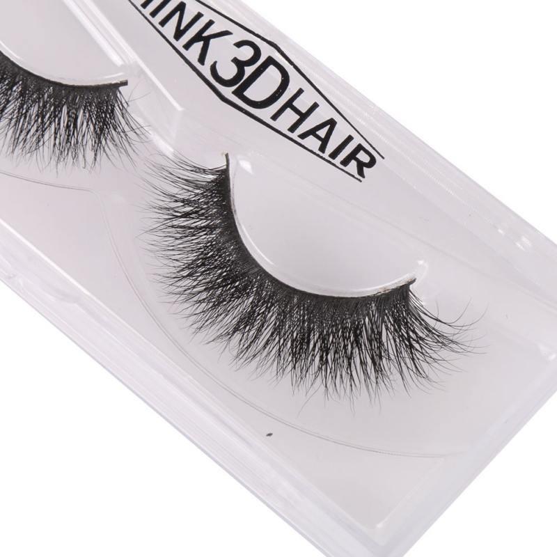 100% Real Mink Soft Long Natural Thick Makeup Eye Lashes ...
