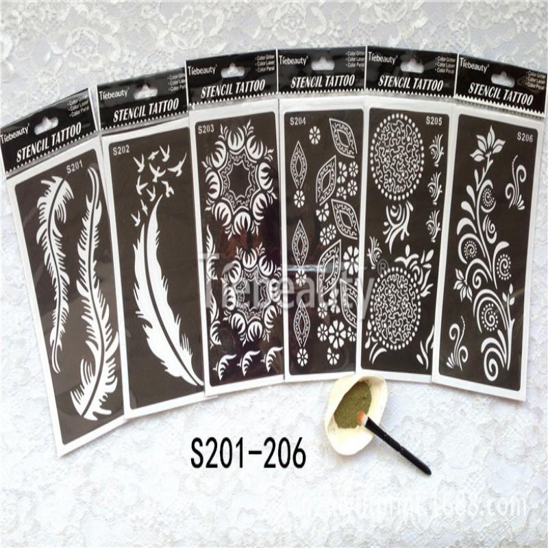 Henna Tattoo Kits: India Henna Temporary Tattoo Stencils Kit For Hand Arm Leg