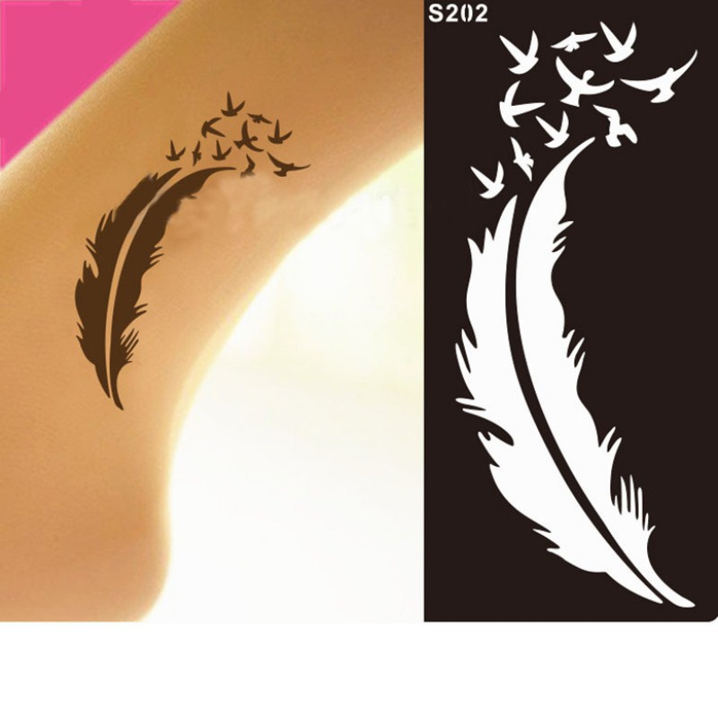 India Henna Temporary Tattoo Stencils Kit For Hand Arm Leg
