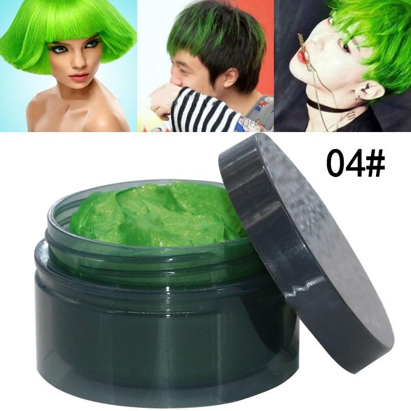 Men Women Diy Hair Color Wax Mud Dye Cream Temporary Modeling