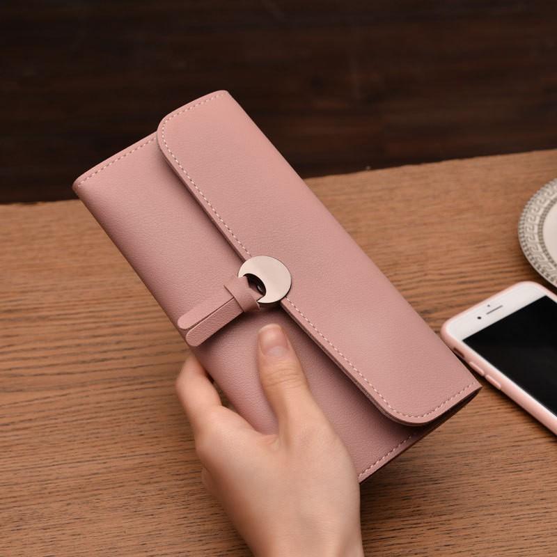 Women PU Leather Clutch Wallet Long Card Holder Case Purse Bag Handbag Fashion