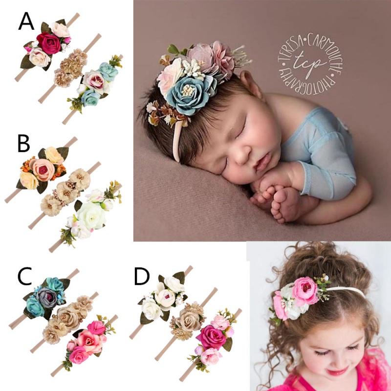 Details about 3Pcs Baby Girl Cute Princess Headbands Floral Crown Hair Band  Accessories AU 2225e1e57e50