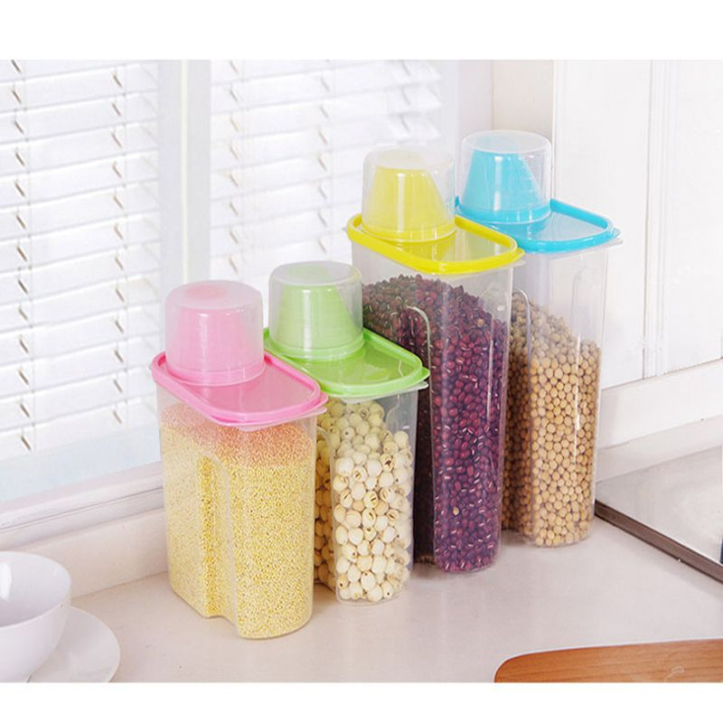 Pet Dog Cat Small Large Capacity Sealed Cans Food Storage Dr