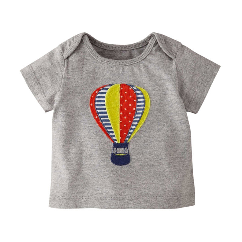 Boys girls short sleeve cotton shirt summer kid toddlers for Boys short sleeve t shirts