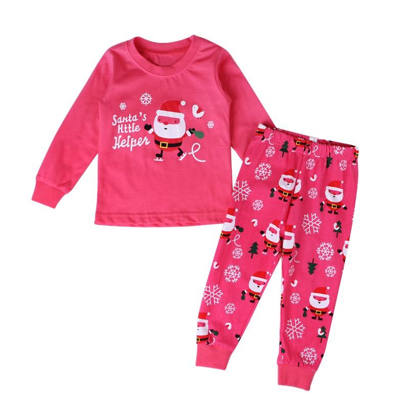 USA Kids Baby Girl Boy Christmas Sleepwear Outfit Nightwear Pajamas ...