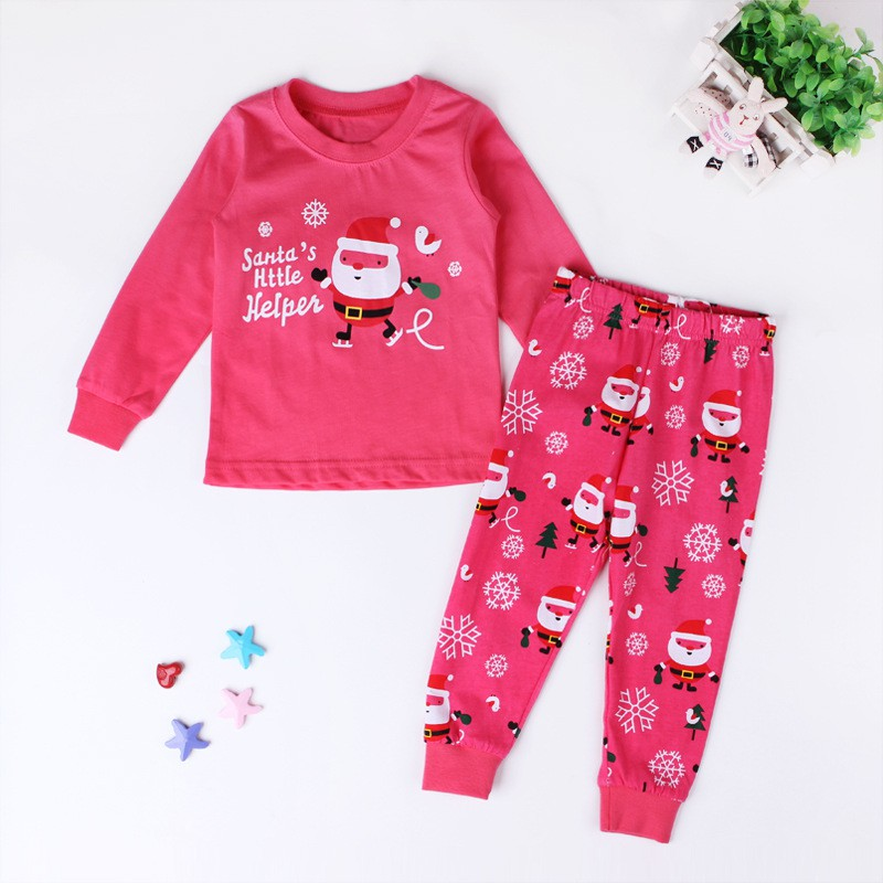 2-8Y Christmas Kids Baby Girls Boys Home Sleepwear Outfits Nightwear ...