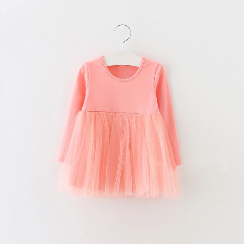 Toddler Baby Girls Tulle Dress Long Sleeve Sleeveless Lace