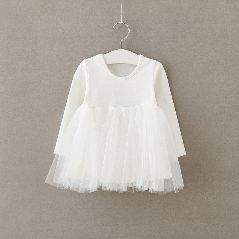 Toddler Baby Girls Tulle Dress Long Sleeve Sleeveless Lace Tutu
