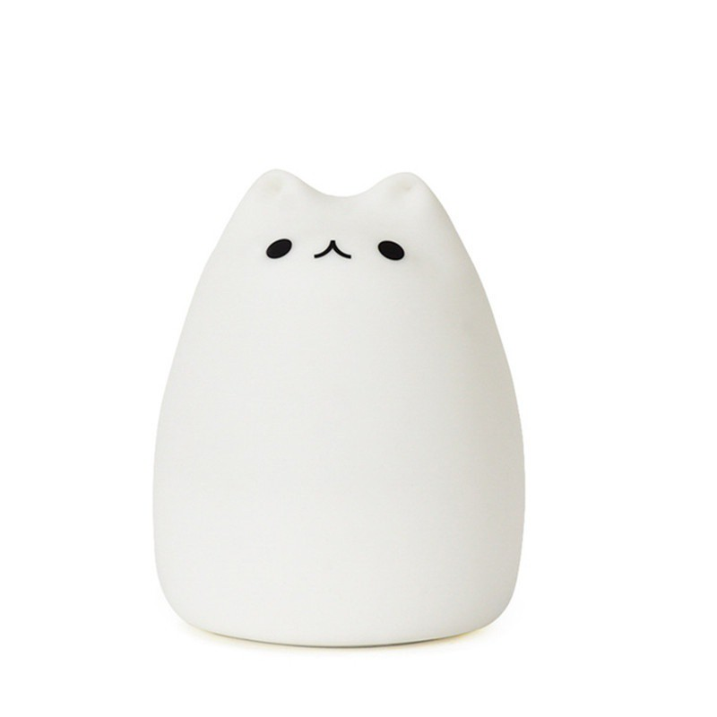 Squishy Cat Night Light : Kitty Cat Night Light Silicone LED Animal Soft Cute Baby Lamp Nursery Kitten USB eBay