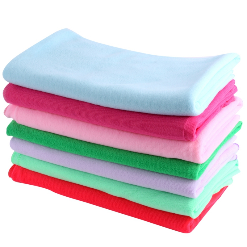 Red Microfiber Bath Towels: Absorbent Microfiber Quick-Dry Towel Travel Sport Camping