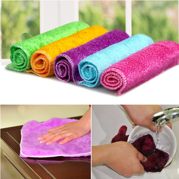 Microfiber Cleaning Cloth Pattern: Lots Absorbent Microfiber Towels Hand Towel Kitchen