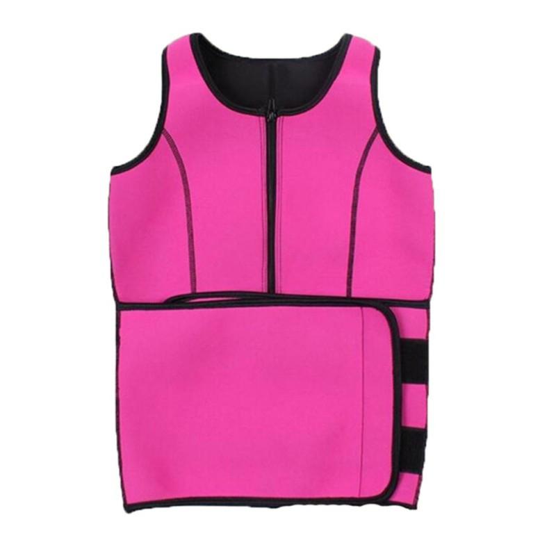 women sauna sweat waist trainer vest bra shaper slimming