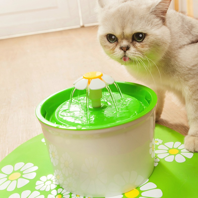 automatic pet drink dish filter fountain cat dog water. Black Bedroom Furniture Sets. Home Design Ideas