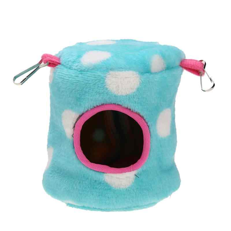 Small Animals Hammock Rabbit Guinea Pig Hedgehog Ferret Hanging Bed Toy House 6# Blue