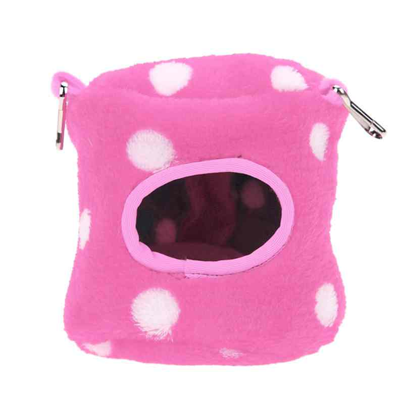 Small Animals Hammock Rabbit Guinea Pig Hedgehog Ferret Hanging Bed Toy House 6# Rose Red
