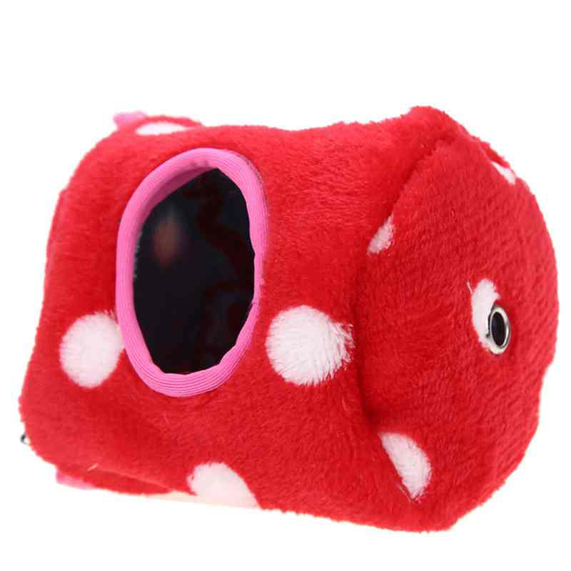Small Animals Hammock Rabbit Guinea Pig Hedgehog Ferret Hanging Bed Toy House 6# Red