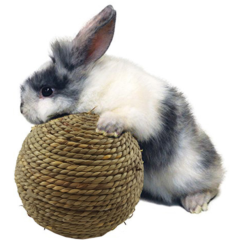 Pet Hamster Rabbit Guinea Toys Balls Natural Grass Straw Wov