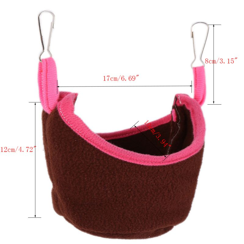 Small Animals Hammock Rabbit Guinea Pig Hedgehog Ferret Hanging Bed Toy House 7# Coffee