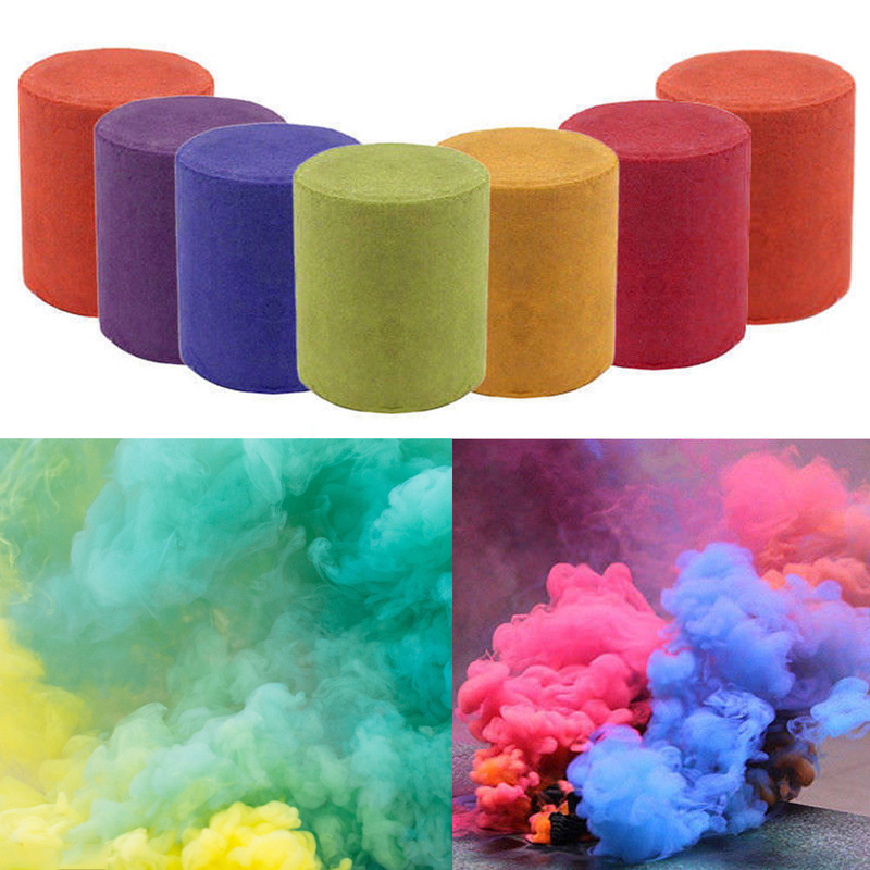 Details about Colorful Smoke Cake Smoke Effect Show Round Bomb Stage  Photography MV Aid Toys