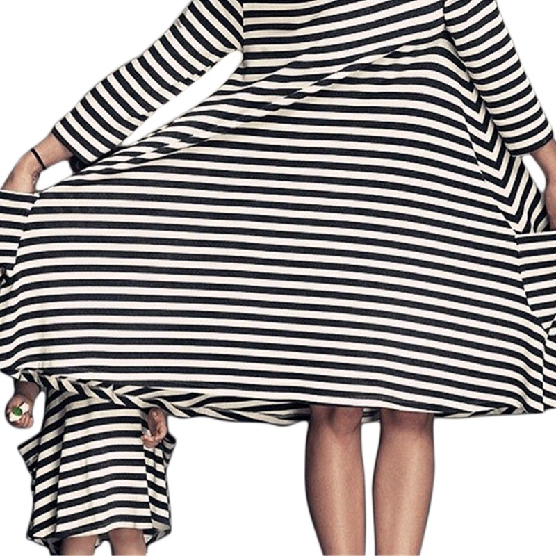 Mutter Tochter Striped Kleid Family Team O-Neck Side Package Parent ...