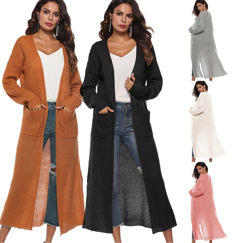 Women-Long-Sleeve-Open-Front-Cardigan-Pullover-Loose-Knitting-Long-Shirt-Jackaet