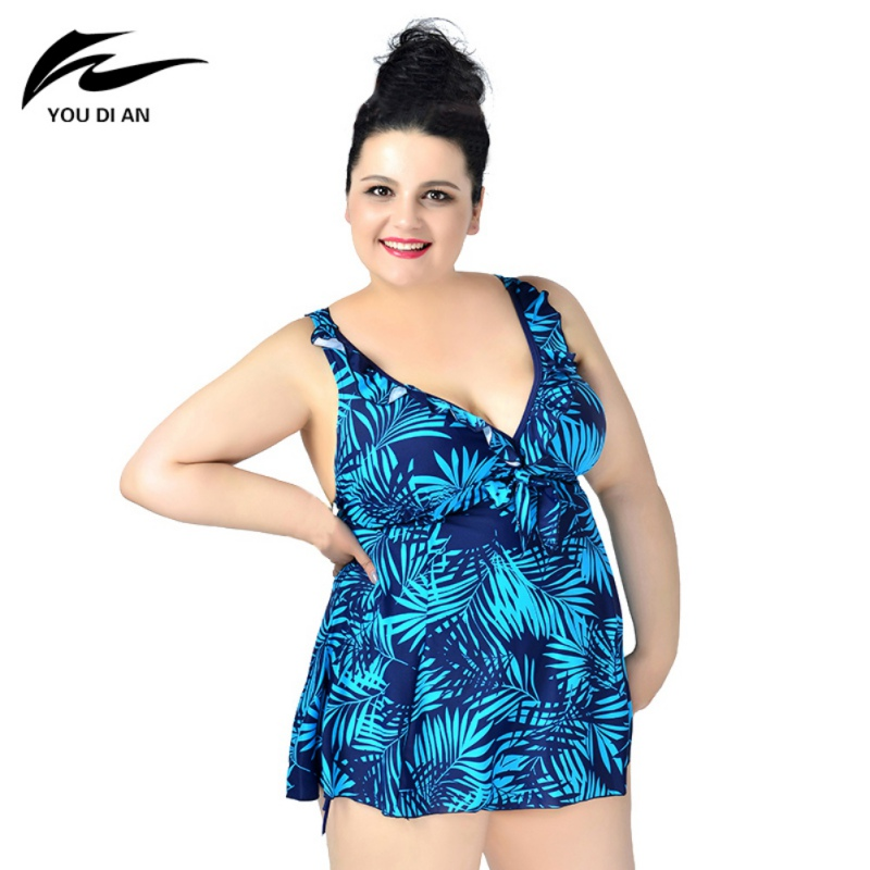 Women-Lady-Summer-Plus-Size-Sets-Print-Swimwear-Suit-Backless-Beach-Swimming
