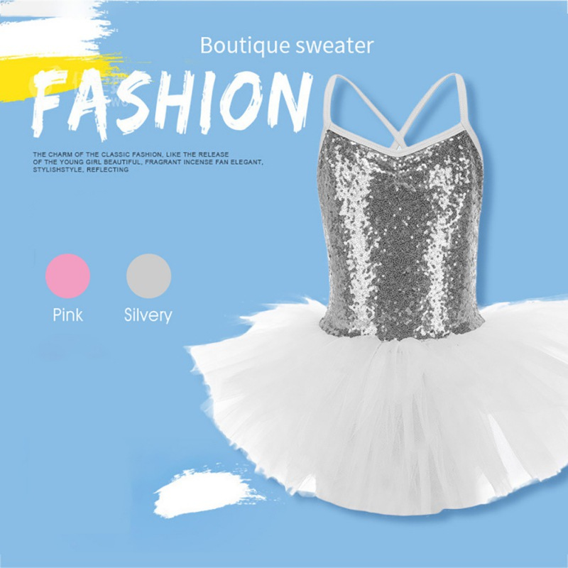 Toddler-Girl-Ballet-Dress-Tutu-Sequins-Leotard-Dance-Gym-Strap-Clothes-Outfits thumbnail 15