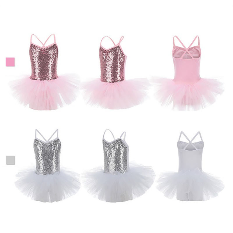 Toddler-Girl-Ballet-Dress-Tutu-Sequins-Leotard-Dance-Gym-Strap-Clothes-Outfits thumbnail 12