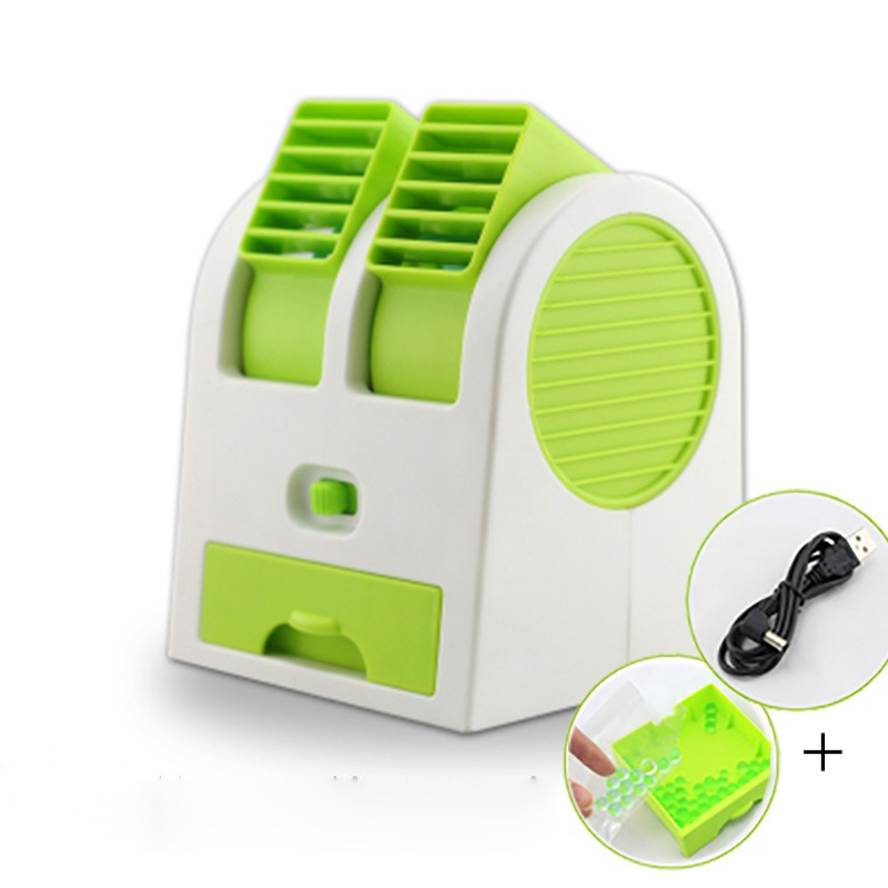 Portable Mini Fan Cooling USB Desktop Dual Bladeless Air