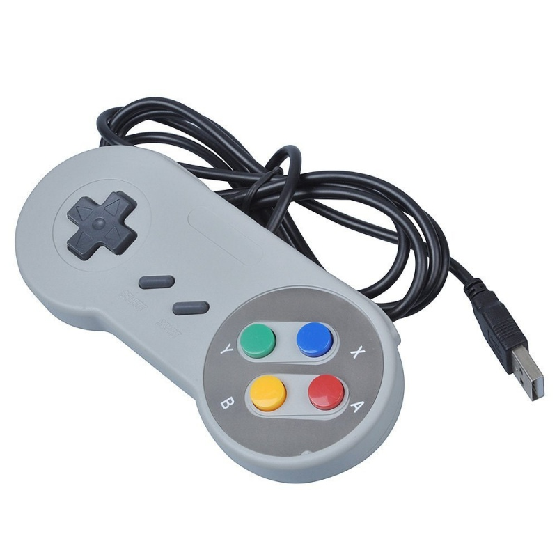 USB Wired Controller Joystick for Nintendo SNES & PC Windows for MAC ...