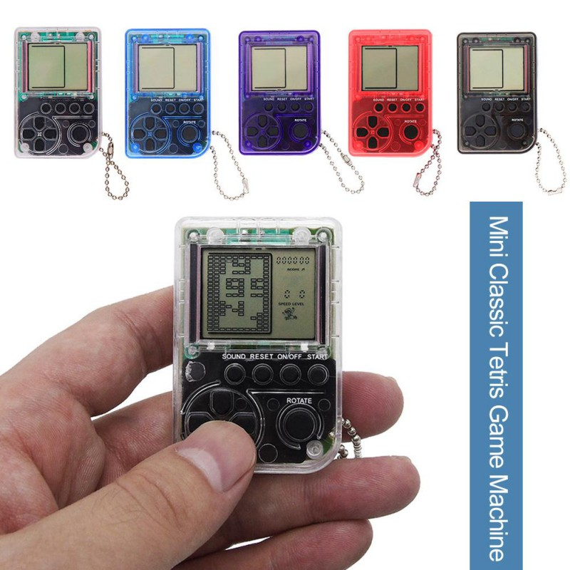 Details about Mini Keychain Pendant Tetris-Games Classic Retro Gaming  Console Built-in 26 Game