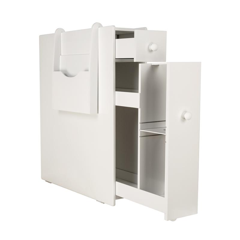 2-Drawer-Chest-Dresser-Storage-Organizer-Bathroom-Cabinet-Bedroom-Furniure-White
