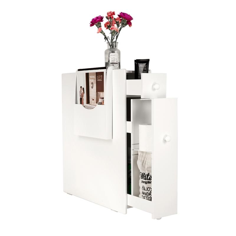 2-Drawer-Chest-Dresser-Storage-Organizer-Bathroom-Cabinet-Bedroom-Furniure-White miniature 2