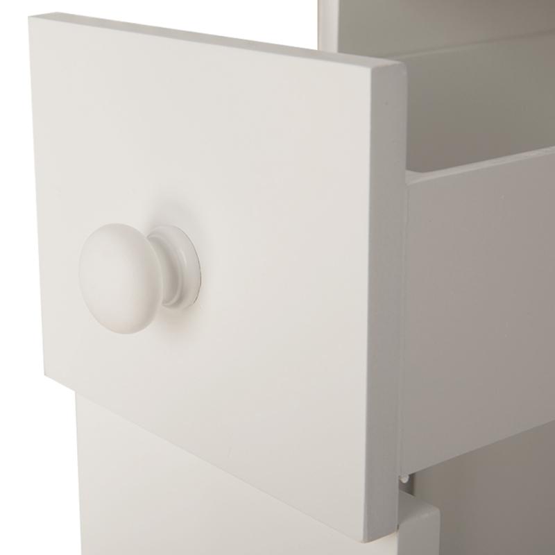 2-Drawer-Chest-Dresser-Storage-Organizer-Bathroom-Cabinet-Bedroom-Furniure-White miniature 6