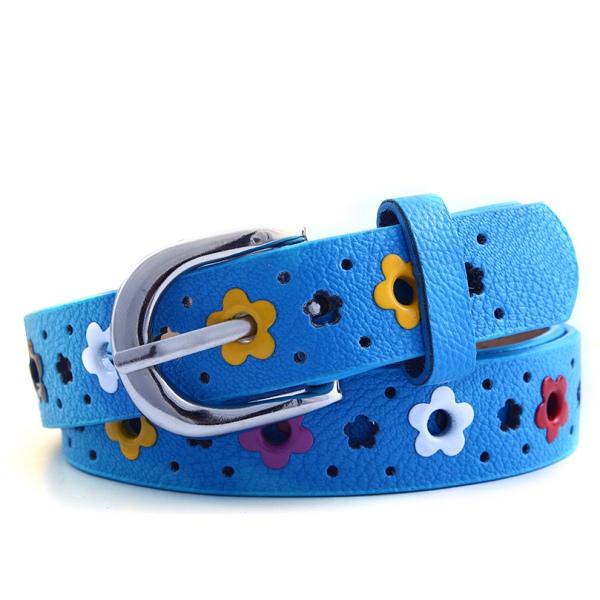 Baby Kids Boys Girls PU Leather Waist Belt Waistband Buckle Adjustable Fashion