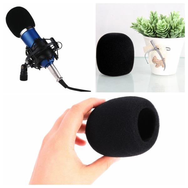 black handheld mic microphone wind shield windscreen sponge protect foam cover. Black Bedroom Furniture Sets. Home Design Ideas
