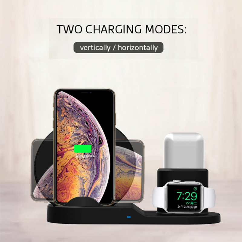 3in1 qi wireless charger pad ladestation f r apple watch. Black Bedroom Furniture Sets. Home Design Ideas