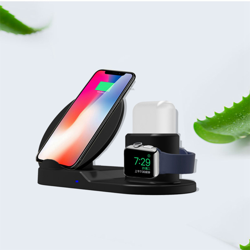 3in1 qi wireless charger pad ladestation f r apple watch iphone x 8 7 airpods ebay. Black Bedroom Furniture Sets. Home Design Ideas