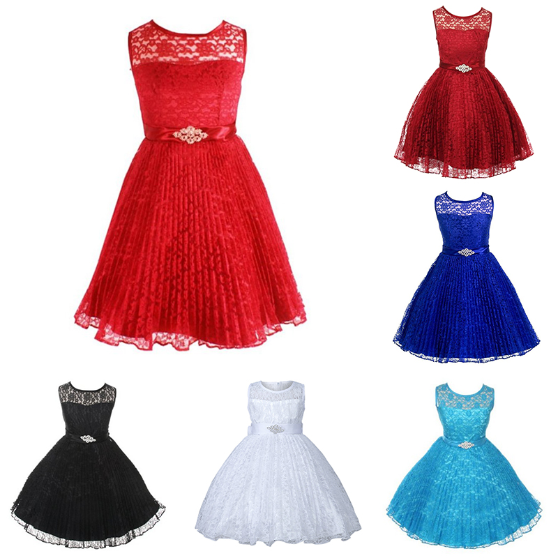 Image Is Loading Toddler Baby Kid Flower Lace Princess Pageant