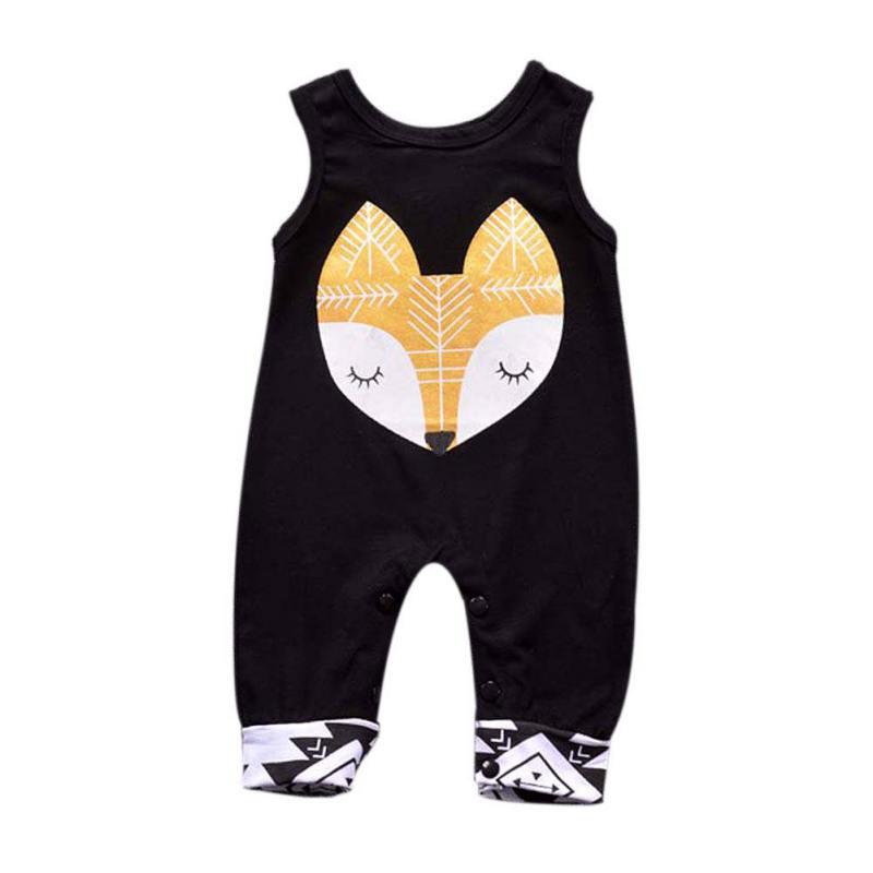 Newborn Infant Baby Boy Girl Kids Cotton Fox Romper