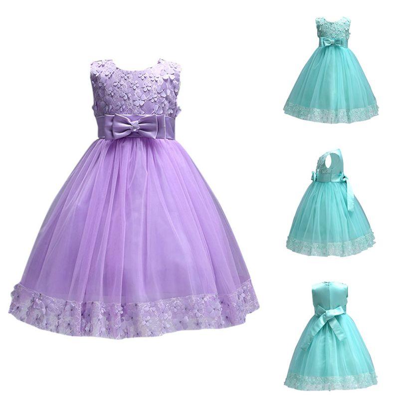 Vestido de dama de honor Flor Desfile Bebé Niño Niña Princesa Tutú ...