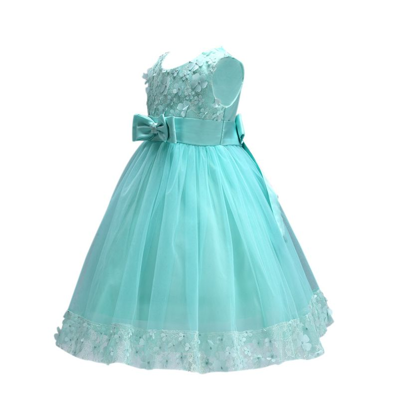 Toddler-Baby-Girl-Flower-Princess-Party-Pageant-Wedding-Bridesmaid-Bow-Dress-USA