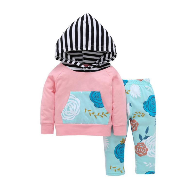 Toddler-Baby-Girl-Autumn-Outfits-Hooded-T-shirt-Tops-Floral-Pants-Trousers-Set