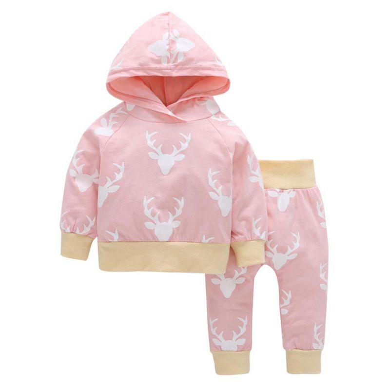 Toddler-Baby-Boys-Girls-Elk-Hooded-Coat-Tops-T-shirt-Pants-Xmas-Outfits-0-24M