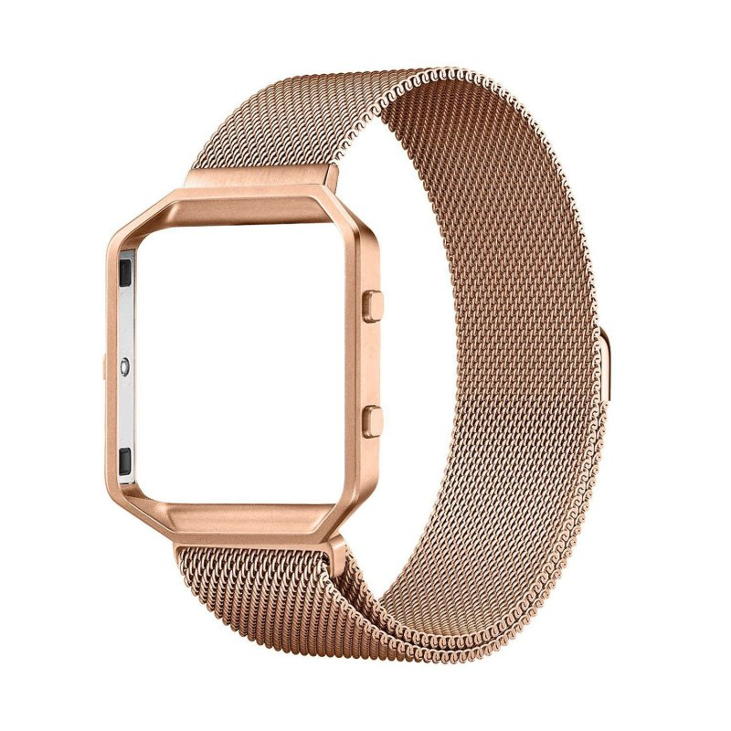 New-Milanese-Edelstahl-Armband-Armband-Metallrahmen-fur-Fitbit-Blaze