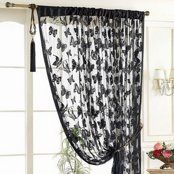 butterfly string curtain panels door fly screen room. Black Bedroom Furniture Sets. Home Design Ideas