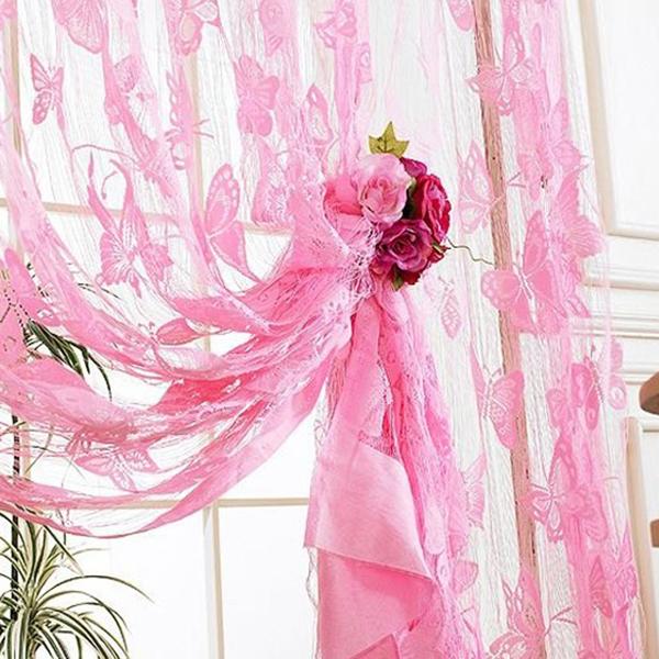 Butterfly Pattern Tassel String Door Curtain Window Room